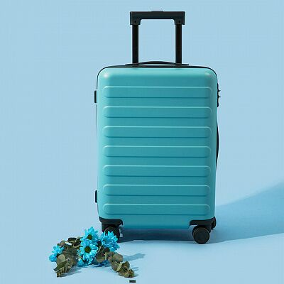 Чемодан Xiaomi 90 Points Rhine Flower Suitcase 20 (Blue/Голубой)